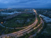 Vista aerea, bella alta via di modo in Chiang Mai, Tailandia Fotografia Stock Libera da Diritti
