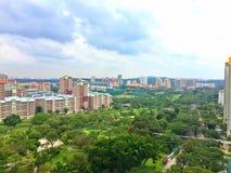 Vista aerea - Bishan, Singapore Immagini Stock