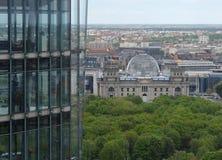 Vista aerea con il Parlamento tedesco Immagini Stock