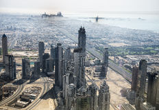 Vista aerea considerata dal Burj Khalifa Fotografia Stock