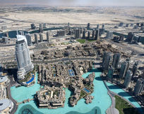 Vista aerea considerata dal Burj Khalifa Immagini Stock