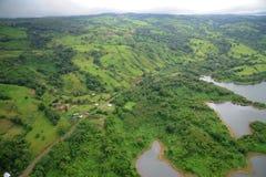 Vista aerea in Costa Rica Fotografia Stock
