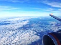 Vista aerea da un aeroplano Fotografie Stock
