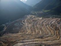Vista aerea dal Erzberg in Stiria, Austria immagini stock libere da diritti