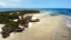 Vista aerea dal fuco, isola di Chumbe immagine stock libera da diritti