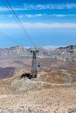 Vista aerea dal picco di Teide Immagine Stock Libera da Diritti