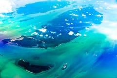Vista aerea dall'aereo Fotografia Stock Libera da Diritti