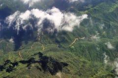 Vista aerea dall'aeroplano fotografie stock