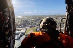 Vista aerea dall'elicottero Fotografia Stock