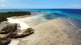 Vista aerea dall'isola di Chumbe fotografia stock libera da diritti