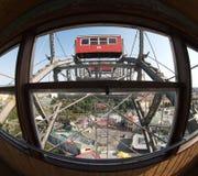 Vista aerea dalla cabina della rotella di Prater Fotografia Stock Libera da Diritti
