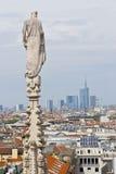 Vista aerea dalla cattedrale sopra Milano, Italia Fotografia Stock