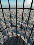 Vista aerea dalla gabbia di vetro immagine stock libera da diritti