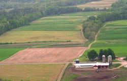 Vista aerea dei campi Immagini Stock