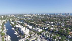 Vista aerea dei canali del Fort Lauderdale stock footage