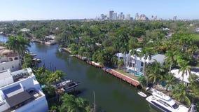Vista aerea dei canali del Fort Lauderdale video d archivio