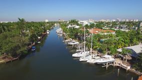 Vista aerea dei canali del Fort Lauderdale archivi video