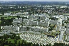 Vista aerea dei couts del villaggio olimpico e di tennis di Monaco di Baviera da Olym Fotografie Stock