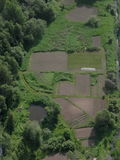 Vista aerea dei giardini Fotografia Stock Libera da Diritti