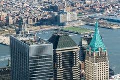 Vista aerea dei grattacieli di Manhattan Immagine Stock Libera da Diritti