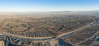 Vista aerea dei progetti abitativi vicino a Las Vegas, NV immagine stock