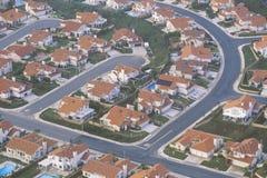 Vista aerea dei sobborghi della Contea di Orange, fotografia stock libera da diritti