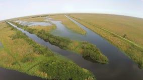 Vista aerea dei terreni paludosi di Florida Immagini Stock