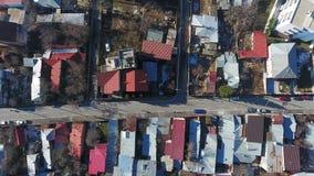 Vista aerea dei tetti video d archivio