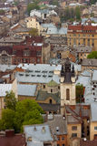 Vista aerea dei tetti della città Fotografia Stock