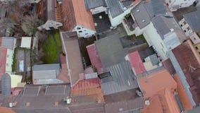 Vista aerea dei tetti rossi video d archivio