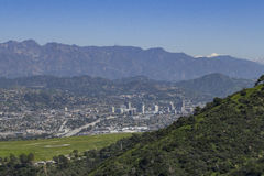 Vista aerea del aera di Burbank fotografia stock libera da diritti