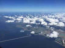 Vista aerea del bacino del fiume Mississippi di New Orleans Immagini Stock Libere da Diritti