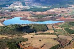 Vista aerea del bacino idrico Fotografia Stock Libera da Diritti