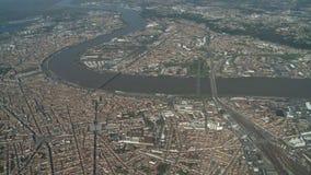 Vista aerea del Bordeaux archivi video