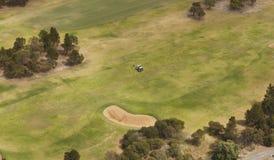 Vista aerea del campo da golf Immagine Stock