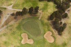 Vista aerea del campo da golf Fotografia Stock
