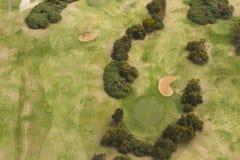 Vista aerea del campo da golf Fotografie Stock Libere da Diritti