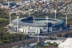 Vista aerea del campo di cricket di Melbourne Fotografia Stock Libera da Diritti