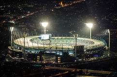 Vista aerea del campo di cricket di Melbourne in Australia Immagine Stock
