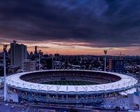 Vista aerea del campo di cricket fotografia stock libera da diritti