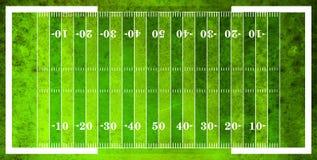 Vista aerea del campo di football americano fotografia stock