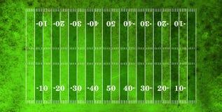 Vista aerea del campo di football americano fotografie stock