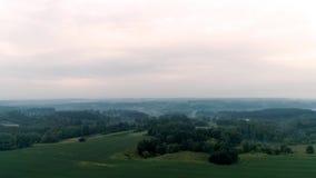 Vista aerea del campo video d archivio