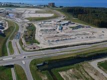 Vista aerea del cantiere Duin - Almere Fotografie Stock