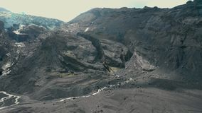 Vista aerea del canyon archivi video