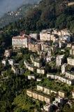 Vista aerea del capitale del gangtok del Sikkim Fotografia Stock Libera da Diritti
