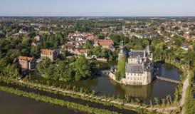 Vista aerea del castello Gemen nel Nordrhein-Westfalen fotografia stock
