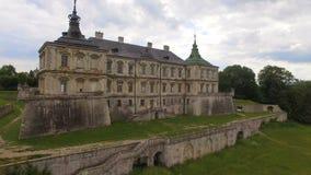 Vista aerea del castello nella regione di Leopoli, Ucraina di Pidhorodetsky stock footage
