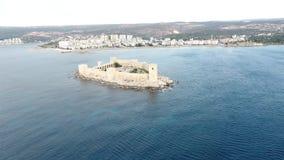 Vista aerea del castello nubile Kiz Kalesi del ` s video d archivio
