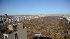 Vista aerea del Central Park, Manhattan video d archivio